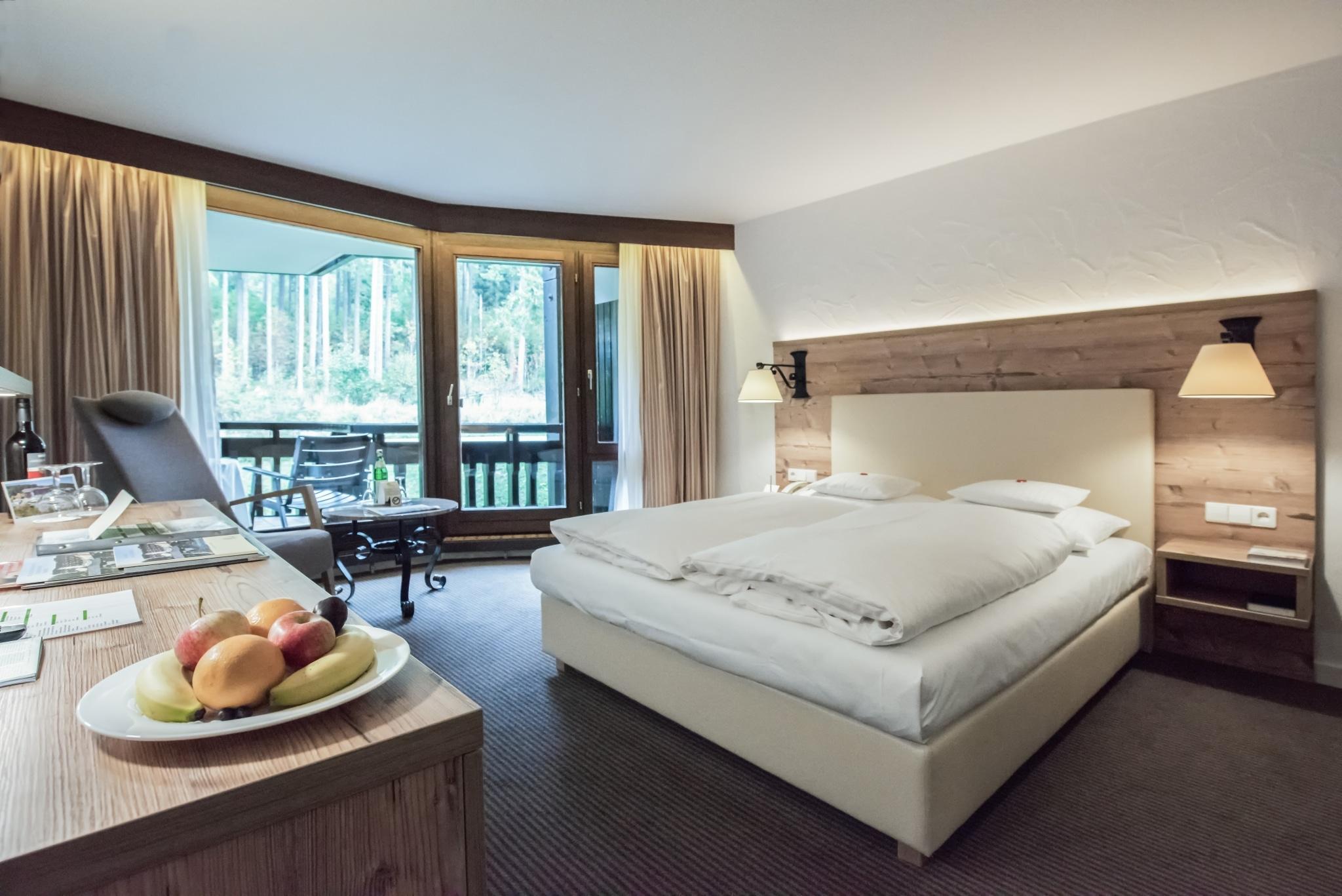 Hotelzimmer mit Waldblick