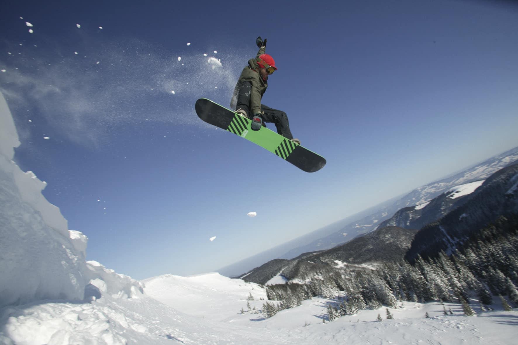 Snowboarder am Feldberg