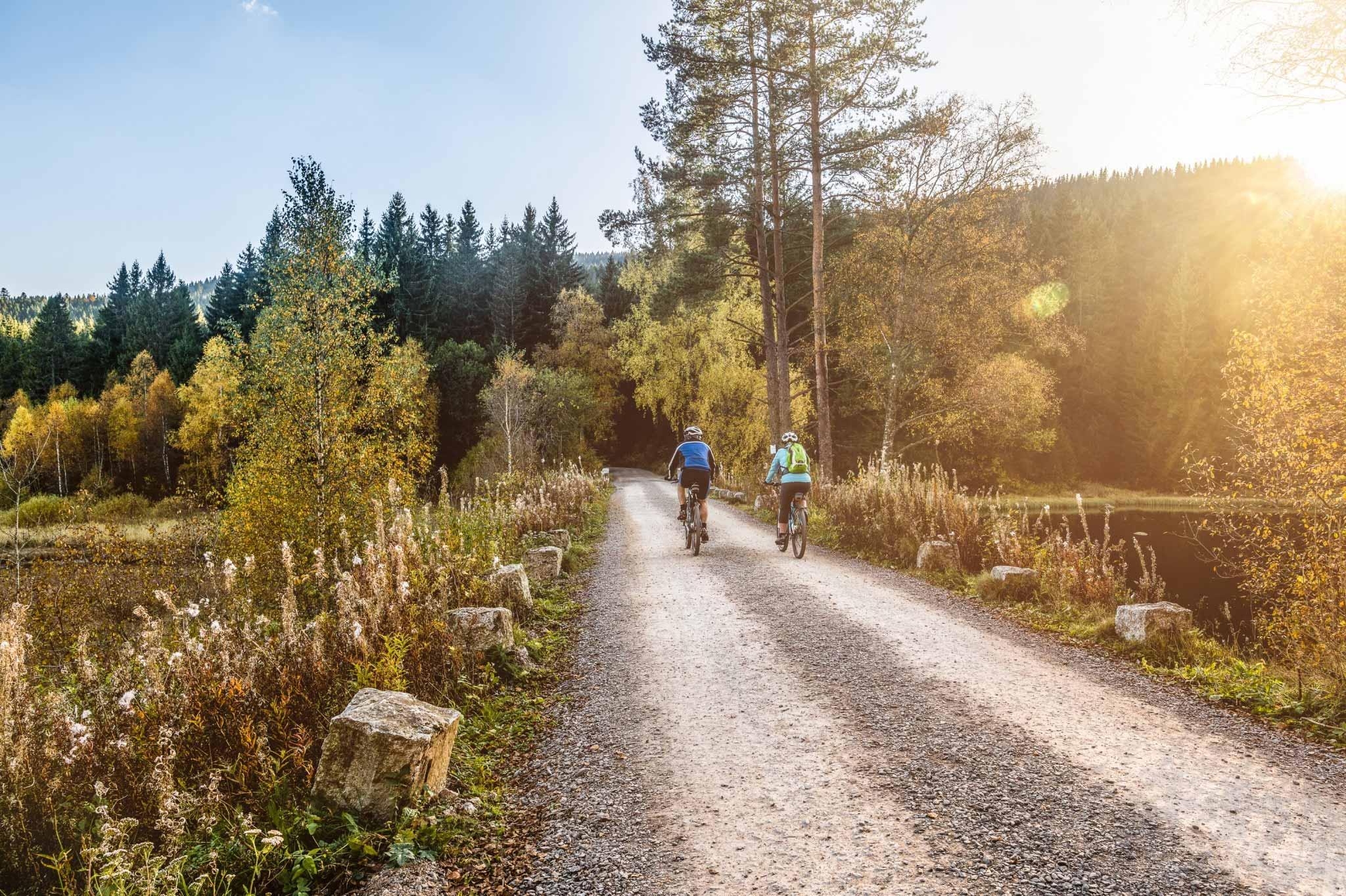Radfahrer am Schluchsee