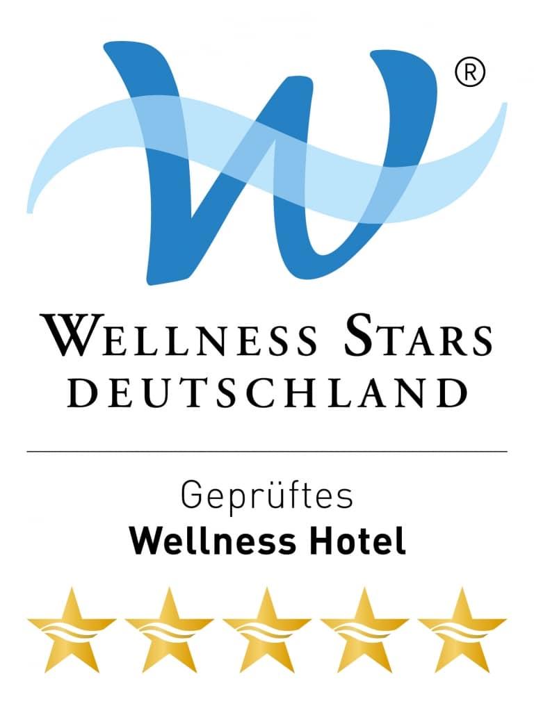 Wellness Stars Auszeichnungswidget mit 5 Sternen